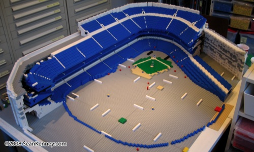 Yankee Stadium built with LEGO bricks