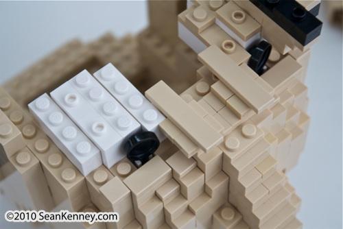 Life-size LEGO portrait by artist Sean Kenney.  LEGO portraits