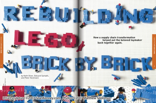 professional LEGO artist / custom magazine visuals