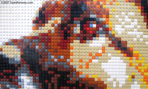 LEGO Portrait of a Dog