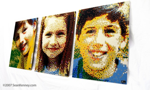 child portraiture with LEGO bricks