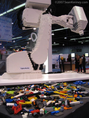 LEGO sculpture of medical robot