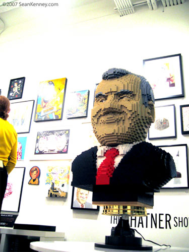 LEGO William Shatner art gallery display