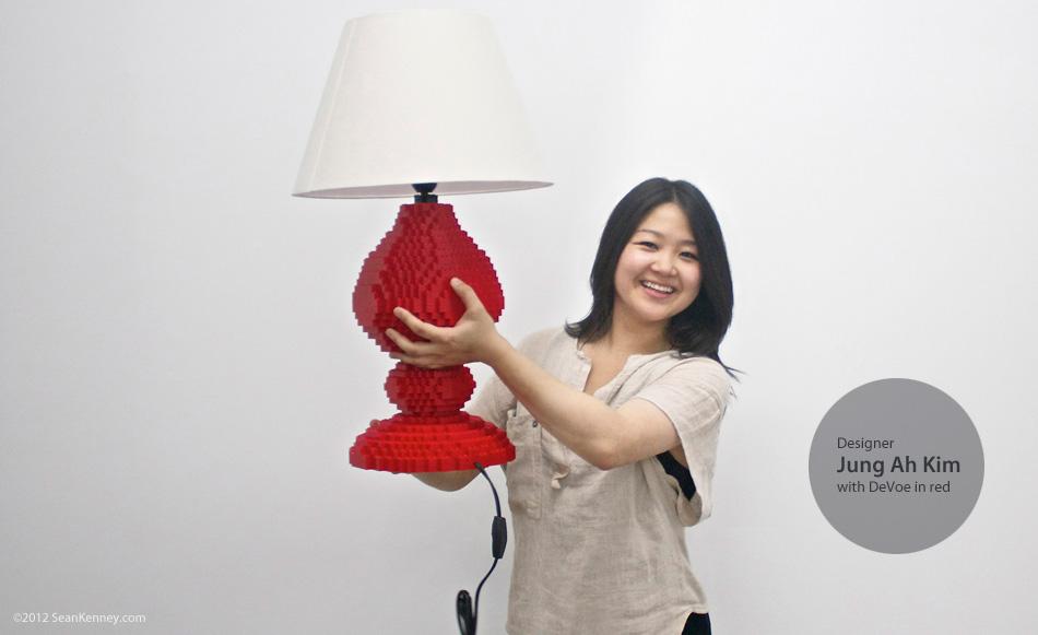 Lego lamp by Sean Kenney