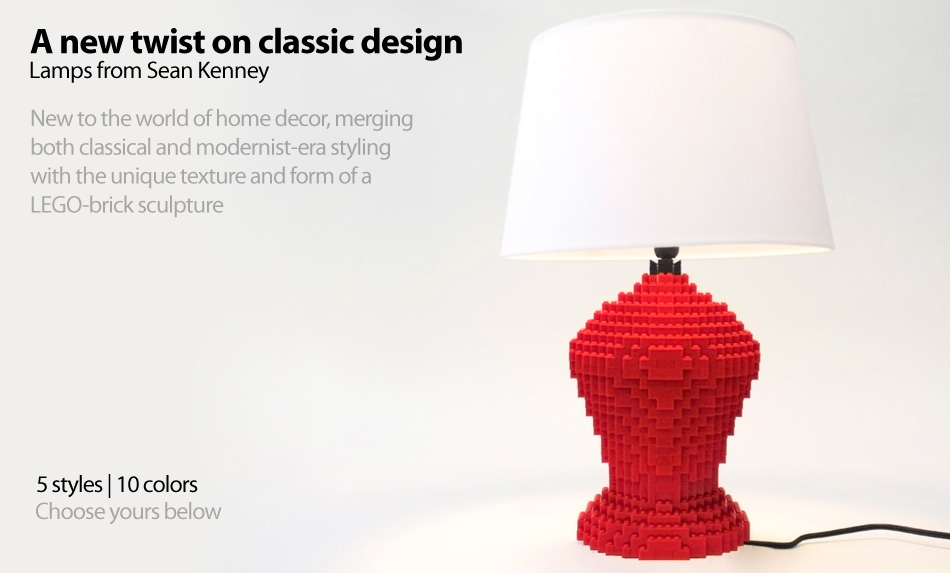 Lamps from Sean Kenney : 5 styles and 10 colors